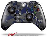 Decal Style Skin for Microsoft XBOX One Wireless Controller WraptorCamo Old School Camouflage Camo Blue Navy - (CONTROLLER NOT INCLUDED)