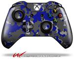 Decal Style Skin for Microsoft XBOX One Wireless Controller WraptorCamo Old School Camouflage Camo Blue Royal - (CONTROLLER NOT INCLUDED)