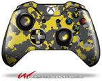 Decal Style Skin for Microsoft XBOX One Wireless Controller WraptorCamo Old School Camouflage Camo Yellow - (CONTROLLER NOT INCLUDED)