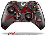 Decal Style Skin for Microsoft XBOX One Wireless Controller WraptorCamo Old School Camouflage Camo Red Dark - (CONTROLLER NOT INCLUDED)