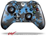Decal Style Skin for Microsoft XBOX One Wireless Controller WraptorCamo Old School Camouflage Camo Blue Medium - (CONTROLLER NOT INCLUDED)