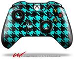 Decal Style Skin for Microsoft XBOX One Wireless Controller Houndstooth Neon Teal on Black - (CONTROLLER NOT INCLUDED)