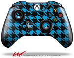 Decal Style Skin for Microsoft XBOX One Wireless Controller Houndstooth Blue Neon on Black - (CONTROLLER NOT INCLUDED)