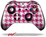 Decal Style Skin for Microsoft XBOX One Wireless Controller Houndstooth Hot Pink - (CONTROLLER NOT INCLUDED)