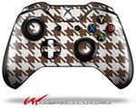 Decal Style Skin for Microsoft XBOX One Wireless Controller Houndstooth Chocolate Brown - (CONTROLLER NOT INCLUDED)