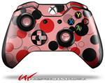 Decal Style Skin for Microsoft XBOX One Wireless Controller Lots of Dots Red on Pink - (CONTROLLER NOT INCLUDED)