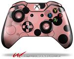 Decal Style Skin for Microsoft XBOX One Wireless Controller Lots of Dots Pink on Pink - (CONTROLLER NOT INCLUDED)