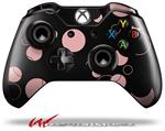 Decal Style Skin for Microsoft XBOX One Wireless Controller Lots of Dots Pink on Black - (CONTROLLER NOT INCLUDED)