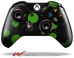 Decal Style Skin for Microsoft XBOX One Wireless Controller Lots of Dots Green on Black - (CONTROLLER NOT INCLUDED)