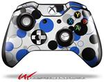 Decal Style Skin for Microsoft XBOX One Wireless Controller Lots of Dots Blue on White - (CONTROLLER NOT INCLUDED)