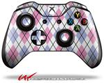Decal Style Skin for Microsoft XBOX One Wireless Controller Argyle Pink and Blue - (CONTROLLER NOT INCLUDED)