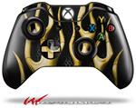 Decal Style Skin for Microsoft XBOX One Wireless Controller Metal Flames Yellow - (CONTROLLER NOT INCLUDED)