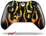 Decal Style Skin for Microsoft XBOX One Wireless Controller Metal Flames - (CONTROLLER NOT INCLUDED)