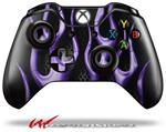 Decal Style Skin for Microsoft XBOX One Wireless Controller Metal Flames Purple - (CONTROLLER NOT INCLUDED)