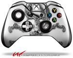 Decal Style Skin for Microsoft XBOX One Wireless Controller Chrome Skull on White - (CONTROLLER NOT INCLUDED)