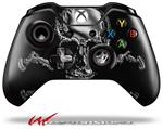 Decal Style Skin for Microsoft XBOX One Wireless Controller Chrome Skull on Black - (CONTROLLER NOT INCLUDED)