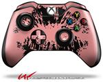 Decal Style Skin for Microsoft XBOX One Wireless Controller Big Kiss Lips Black on Pink - (CONTROLLER NOT INCLUDED)