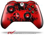 Decal Style Skin for Microsoft XBOX One Wireless Controller Big Kiss Lips Black on Red - (CONTROLLER NOT INCLUDED)