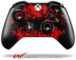 Decal Style Skin for Microsoft XBOX One Wireless Controller Big Kiss Lips Red on Black - (CONTROLLER NOT INCLUDED)