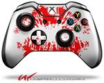 Decal Style Skin for Microsoft XBOX One Wireless Controller Big Kiss Lips Red on White - (CONTROLLER NOT INCLUDED)