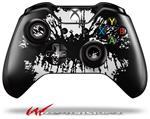 Decal Style Skin for Microsoft XBOX One Wireless Controller Big Kiss Lips White on Black - (CONTROLLER NOT INCLUDED)