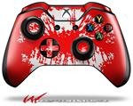 Decal Style Skin for Microsoft XBOX One Wireless Controller Big Kiss Lips White on Red - (CONTROLLER NOT INCLUDED)