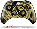 Decal Style Skin for Microsoft XBOX One Wireless Controller Alecias Swirl 02 Yellow - (CONTROLLER NOT INCLUDED)