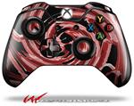 Decal Style Skin for Microsoft XBOX One Wireless Controller Alecias Swirl 02 Red - (CONTROLLER NOT INCLUDED)
