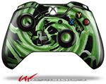 Decal Style Skin for Microsoft XBOX One Wireless Controller Alecias Swirl 02 Green - (CONTROLLER NOT INCLUDED)