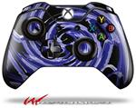 Decal Style Skin for Microsoft XBOX One Wireless Controller Alecias Swirl 02 Blue - (CONTROLLER NOT INCLUDED)