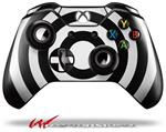 Decal Style Skin for Microsoft XBOX One Wireless Controller Bullseye Black and White - (CONTROLLER NOT INCLUDED)