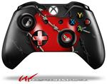 Decal Style Skin for Microsoft XBOX One Wireless Controller Barbwire Heart Red - (CONTROLLER NOT INCLUDED)