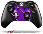 Decal Style Skin for Microsoft XBOX One Wireless Controller Barbwire Heart Purple - (CONTROLLER NOT INCLUDED)