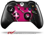 Decal Style Skin for Microsoft XBOX One Wireless Controller Barbwire Heart Hot Pink - (CONTROLLER NOT INCLUDED)