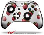 Decal Style Skin for Microsoft XBOX One Wireless Controller Strawberries on White - (CONTROLLER NOT INCLUDED)