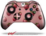 Decal Style Skin for Microsoft XBOX One Wireless Controller Strawberries on Pink - (CONTROLLER NOT INCLUDED)