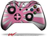 Decal Style Skin for Microsoft XBOX One Wireless Controller Rising Sun Japanese Flag Pink - (CONTROLLER NOT INCLUDED)