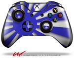 Decal Style Skin for Microsoft XBOX One Wireless Controller Rising Sun Japanese Flag Blue - (CONTROLLER NOT INCLUDED)