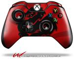 Decal Style Skin for Microsoft XBOX One Wireless Controller Oriental Dragon Black on Red - (CONTROLLER NOT INCLUDED)