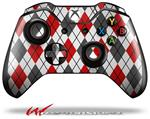 Decal Style Skin for Microsoft XBOX One Wireless Controller Argyle Red and Gray - (CONTROLLER NOT INCLUDED)