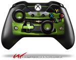 Decal Style Skin for Microsoft XBOX One Wireless Controller 2010 Chevy Camaro Green - White Stripes on Black - (CONTROLLER NOT INCLUDED)