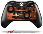 Decal Style Skin for Microsoft XBOX One Wireless Controller 2010 Chevy Camaro Orange - Black Stripes on Black - (CONTROLLER NOT INCLUDED)
