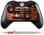 Decal Style Skin for Microsoft XBOX One Wireless Controller 2010 Chevy Camaro Orange - White Stripes on Black - (CONTROLLER NOT INCLUDED)