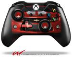 Decal Style Skin for Microsoft XBOX One Wireless Controller 2010 Chevy Camaro Victory Red - White Stripes on Black - (CONTROLLER NOT INCLUDED)