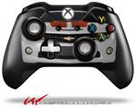 Decal Style Skin for Microsoft XBOX One Wireless Controller 2010 Chevy Camaro White - Orange Stripes on Black - (CONTROLLER NOT INCLUDED)