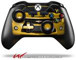 Decal Style Skin for Microsoft XBOX One Wireless Controller 2010 Chevy Camaro Yellow - Black Stripes on Black - (CONTROLLER NOT INCLUDED)