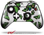 Decal Style Skin for Microsoft XBOX One Wireless Controller Butterflies Green - (CONTROLLER NOT INCLUDED)