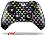 Decal Style Skin for Microsoft XBOX One Wireless Controller Pastel Hearts on Black - (CONTROLLER NOT INCLUDED)