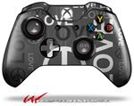 Decal Style Skin for Microsoft XBOX One Wireless Controller Love and Peace Gray - (CONTROLLER NOT INCLUDED)