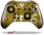Decal Style Skin for Microsoft XBOX One Wireless Controller Love and Peace Yellow - (CONTROLLER NOT INCLUDED)